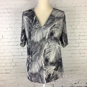 & Other Stories Palm Tree Blouse